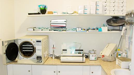 Processo di sterilizzazione odontoiatria